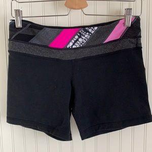 """Lululemon 4"""" Black Bike Shorts"""